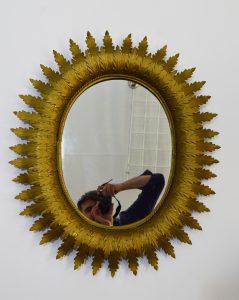 espejo sol de metal color mate