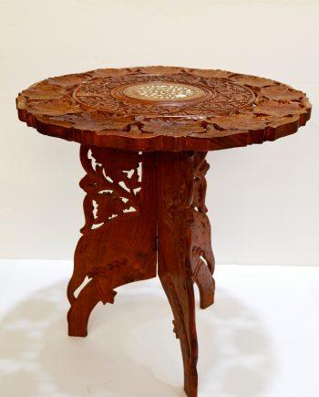 mesa auxiliar india antigua mueble antiguo