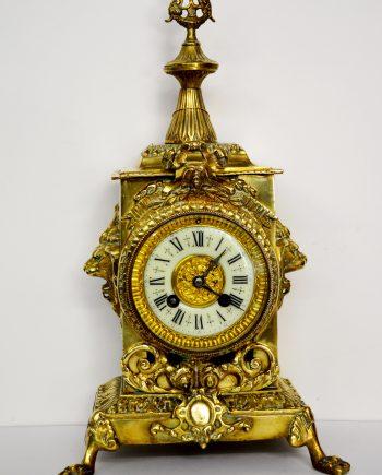 reloj de mesa antiguo de bronce