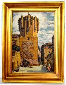 abraido torre del clavero pintura de salamanca