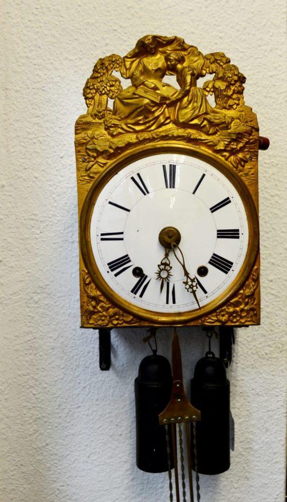 Reloj Morez con péndulo de 5 varillas