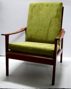 sillón danés teca vintage antiguo