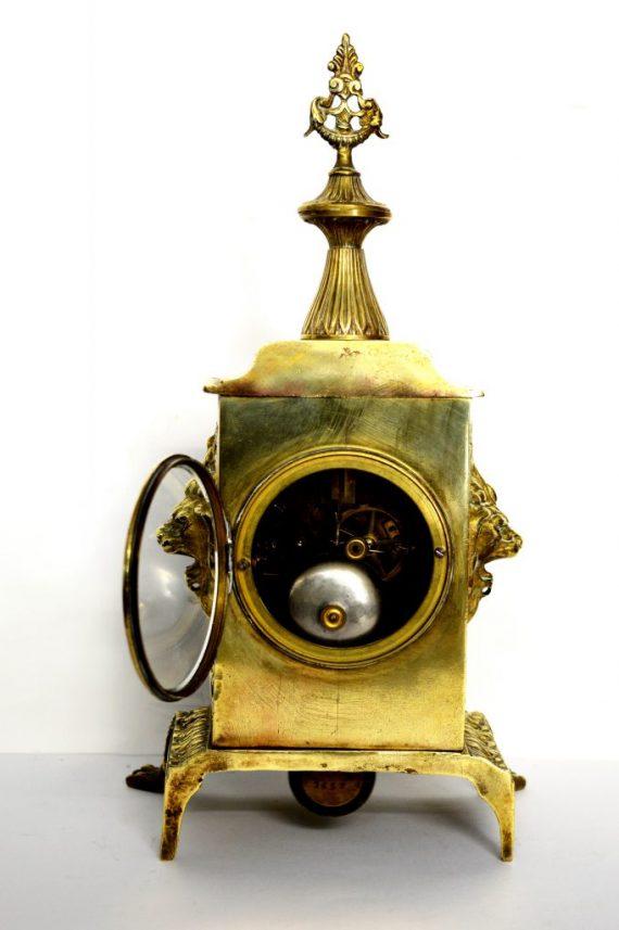 reloj art decó antiguo de bronce